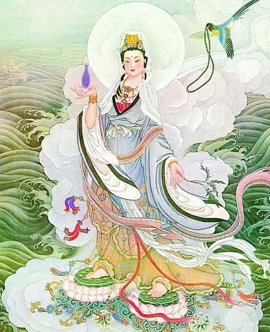 Guanyin Bodhisattva vừa là một vị thần Bà La Môn vừa là một vị thần hư cấu vĩ đại của Phật giáo