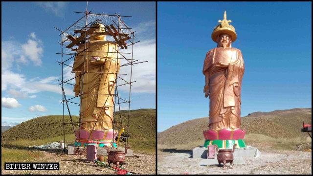 Thay đổi kỳ lạ hơn các bức tượng Phật giáo và Đạo giáo