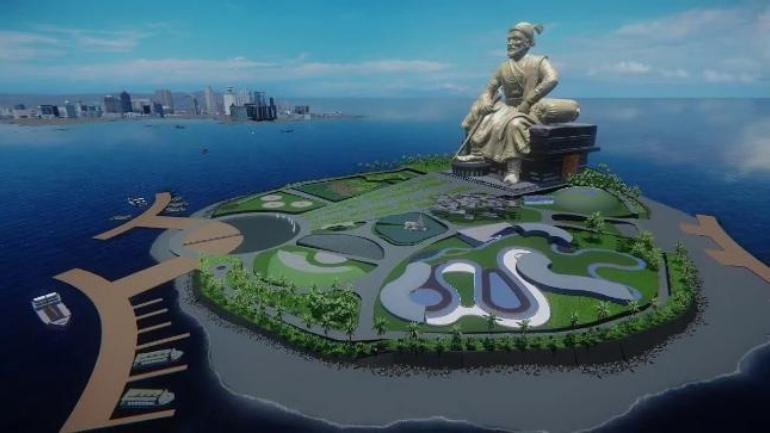 Bức tượng Sivalitrên biểnMumbai có giá trị Maharashtra 3643,78 Rupee