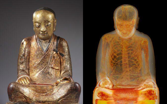 CT Scan tiết lộ tượng Phật có xác ướp bên trong